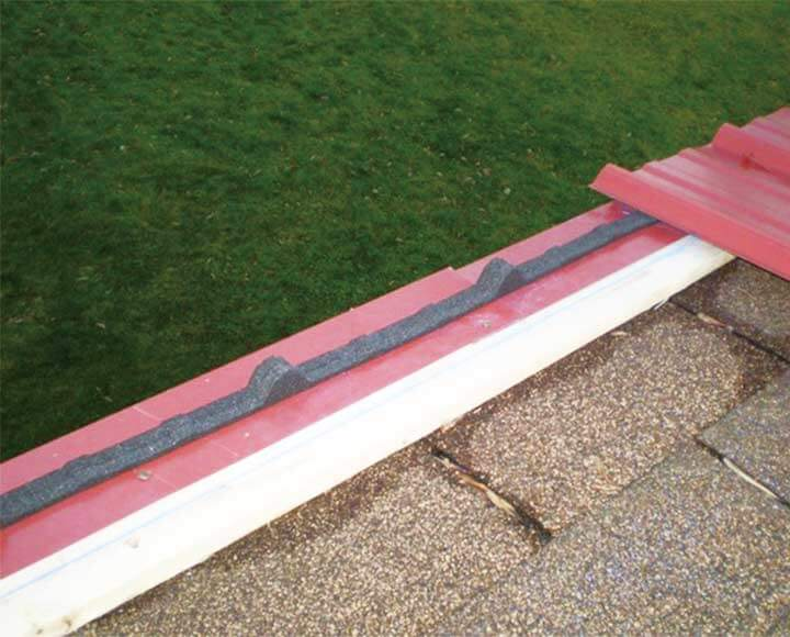foam closure strips for corrugated roofing panels foamtech - Corrugated Roof Panels