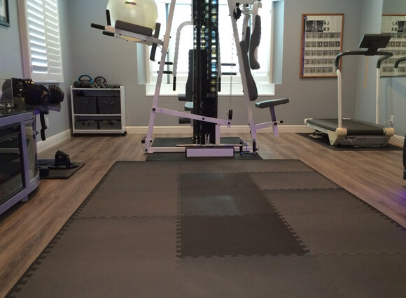 Floor mats for home gym perfect heated